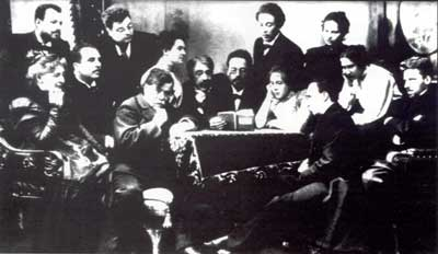 Chekhov reads his Seagull to the directors and actors of the Moscow Art Theatre