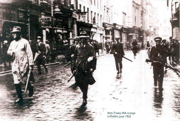 Anti-Treaty IRA troops in Dublin, June 1922
