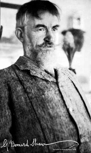 George Bernard Shaw at home at Maybury Knoll, 1906