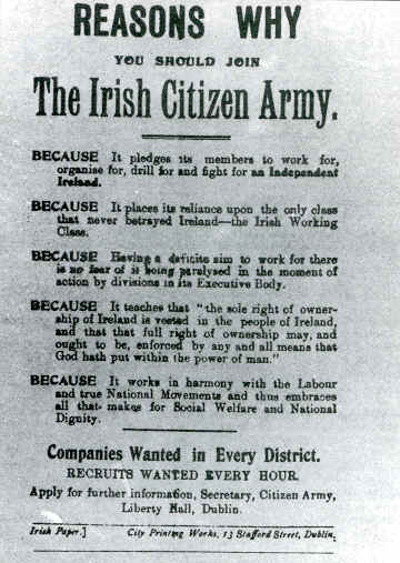 Reasons why you should join the Irish Citizen Army