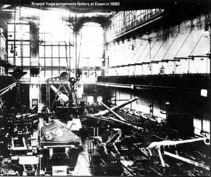 Krupp's huge armaments factory at Essen 1880