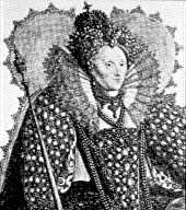 Portrait of Queen Elizabeth I, c 1603, by Crispin van de Passe.