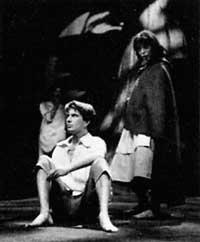 Peter Gill as Silvius in the RSC's 1962 production of AsYou Like It starring Ian Bannen and Vanessa Redgrave