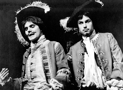 Maurice Röeves and Charles Thomas in Peter GIll's production of The Soldier's Fortune, Royal Court, 1967.  Picture: Zoe Dominic