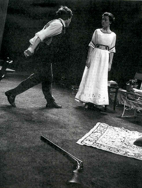 John Light and Justine Wadell in The Seagull. Photo: Neil Libbert
