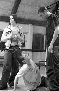 Friendly Fire, by Peter Gill, in rehearsal, Crucible Youth Theatre, Sheffield.  Photo: Sophie Hunter